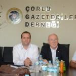 Türkiye Gazeteciler Konfederasyonu Başkanı Kolaylı'dan Çorlu Gazeteciler Derneği'ne Ziyaret 02