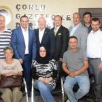 Türkiye Gazeteciler Konfederasyonu Başkanı Kolaylı'dan Çorlu Gazeteciler Derneği'ne Ziyaret 04